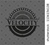 velocity black emblem. vintage. | Shutterstock .eps vector #1136156138