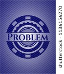 problem emblem with jean... | Shutterstock .eps vector #1136156270