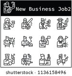 character of business jobs icon ... | Shutterstock .eps vector #1136158496