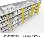 supermarket or grocery with... | Shutterstock . vector #1136161979