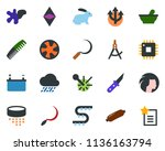 colored vector icon set  ... | Shutterstock .eps vector #1136163794