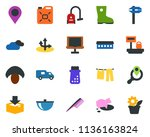 colored vector icon set   pig... | Shutterstock .eps vector #1136163824
