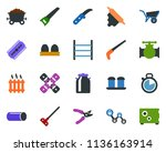 colored vector icon set   milk... | Shutterstock .eps vector #1136163914