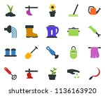 colored vector icon set  ... | Shutterstock .eps vector #1136163920