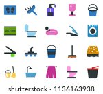 colored vector icon set  ... | Shutterstock .eps vector #1136163938