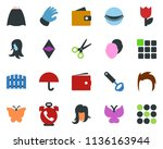 colored vector icon set   phone ... | Shutterstock .eps vector #1136163944