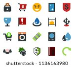 colored vector icon set   berry ... | Shutterstock .eps vector #1136163980