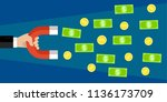investments or money. money... | Shutterstock . vector #1136173709