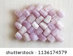 kunzite is a natural pink stone ... | Shutterstock . vector #1136174579