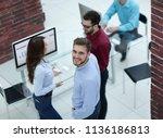 creative business people... | Shutterstock . vector #1136186813