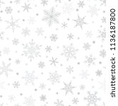 christmas seamless pattern of... | Shutterstock .eps vector #1136187800