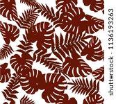 vector seamless tropical... | Shutterstock .eps vector #1136193263