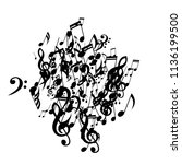 musical symbols. creative... | Shutterstock .eps vector #1136199500