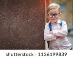 back to school. happy smiling... | Shutterstock . vector #1136199839