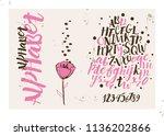 romantic calligraphy alphabet. | Shutterstock .eps vector #1136202866