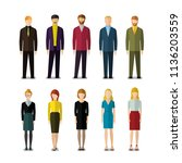 icons of businessmen and... | Shutterstock . vector #1136203559