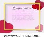 romantic vector banner.... | Shutterstock .eps vector #1136205860