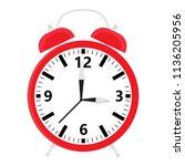 raster illustration red retro... | Shutterstock . vector #1136205956
