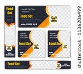 creative design for food web... | Shutterstock .eps vector #1136206499