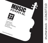 raster template for a concert... | Shutterstock . vector #1136207210