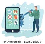 vector cartoon illustration of... | Shutterstock .eps vector #1136215073