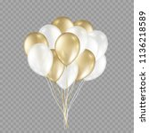 balloons isolated on... | Shutterstock .eps vector #1136218589