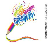 creativity concept with... | Shutterstock .eps vector #113622310