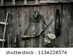 professional hunters equipment... | Shutterstock . vector #1136228576