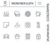 microfiber cloth properties... | Shutterstock .eps vector #1136230496