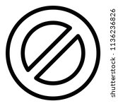 modern flat close icon | Shutterstock .eps vector #1136236826