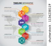 vector polygon infographic... | Shutterstock .eps vector #1136238119