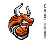 basketball bull team logo   Shutterstock .eps vector #1136239196