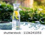 healthy eating  drinks  diet ... | Shutterstock . vector #1136241053