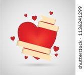 vector illustration of heart... | Shutterstock .eps vector #1136241299