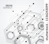 technology hexagon style... | Shutterstock .eps vector #1136243099