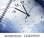 clock faces  calendars and diary | Shutterstock . vector #113624410