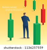 businessman standing with... | Shutterstock .eps vector #1136257559