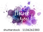 thank you hand lettering phrase ... | Shutterstock .eps vector #1136262383