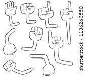 vector set of cartoon arm | Shutterstock .eps vector #1136263550