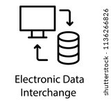 data house  laptop and two...   Shutterstock .eps vector #1136266826