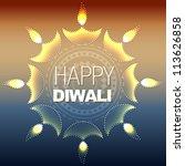 artistic vector diwali diya... | Shutterstock .eps vector #113626858
