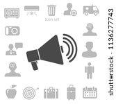 flat icon of megaphone. vector... | Shutterstock .eps vector #1136277743