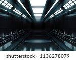 futuristic tunnel with light.... | Shutterstock . vector #1136278079