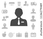 flat icon of businessman.... | Shutterstock .eps vector #1136279489