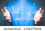 analyzing a business analytics  ...   Shutterstock . vector #1136279636