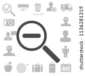 zoom out icon. vector... | Shutterstock .eps vector #1136281319