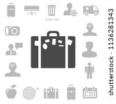 flat icon of bag vector... | Shutterstock .eps vector #1136281343