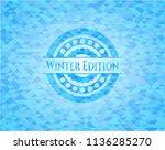 winter edition sky blue emblem... | Shutterstock .eps vector #1136285270