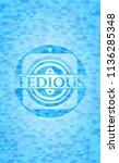tedious light blue emblem with... | Shutterstock .eps vector #1136285348