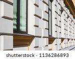 facade of building in modernist ...   Shutterstock . vector #1136286893
